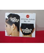 Indian Bridal Wedding CZ Hair Pin Women's Head & Hair Bollywood Fashion ... - $11.87