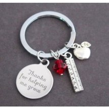 Personalized Teacher Quote Keychain,Teacher Appreciation Gift,Endof Year... - $12.00
