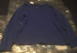 Laura Scott L Blue Long Sleeve T-Shirt - $9.60