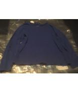Laura Scott L Blue Long Sleeve T-Shirt - $9.60