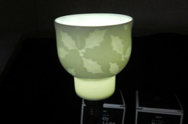 2 BONE CHINA HOLLY GLOW LIGHT~COLONIAL CANDLE OF CAPE COD~HYANNIS, MA. N... - $24.70