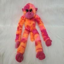"18"" Petting Zoo Hanging Monkey Orange Pink Purple Tie Dye Plush Toy Furr... - $19.97"