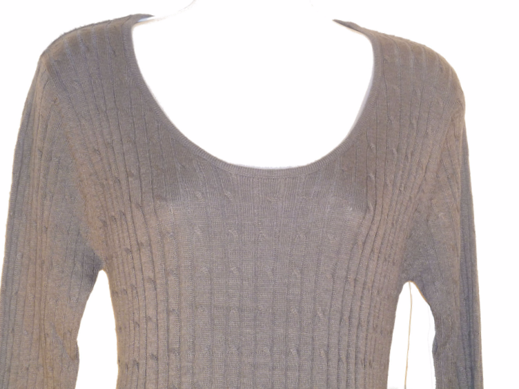 New Maternity Grey Cable Knit Sweater Dress / Tunic Top