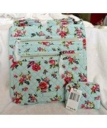 Vera Bradley Ionic Triple Zip Hipster and coin purse in Water Bouquet pa... - $52.00