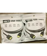 Lot of (2) GEMS 10Ft HDMI Cables with 4K Support 2x Brand New in Sealed ... - $12.28