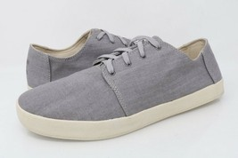 Toms Mens Payton Casual Shoes Gray Chambray Fabric Lace Up Sneakers 11 E... - $29.99