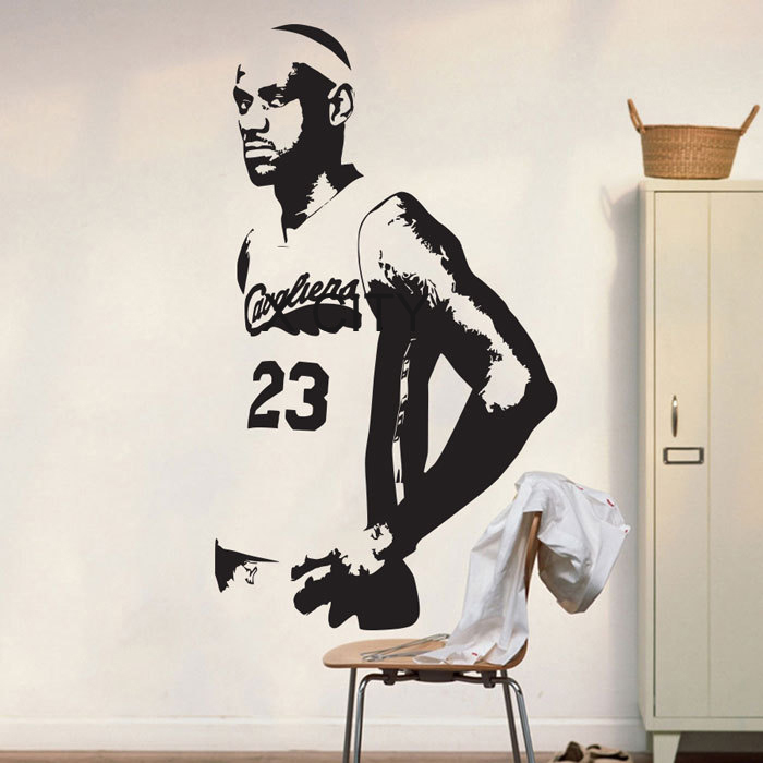 Sketball cavs lebron james poster graphic wall vinyl sticker decal decor school dorm living room