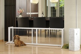 Freestanding Pet Gate Large Origami Free Standing Fence Indoor Barrier S... - $106.83