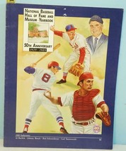 1939-89 National Baseball Hall of Fame Yearbook 50th Anniversary Bench &... - $7.43
