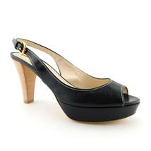 New PRADA Size 8 Black Leather Slingback Heels Pumps Shoes 38.5 Eur - $198.00