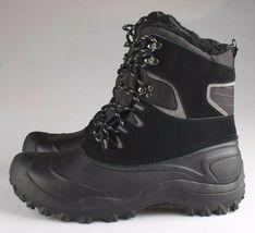 Goodfellow & Co Case Men's Black Leather Textile Faux Fur Chucka Winter Boots image 3