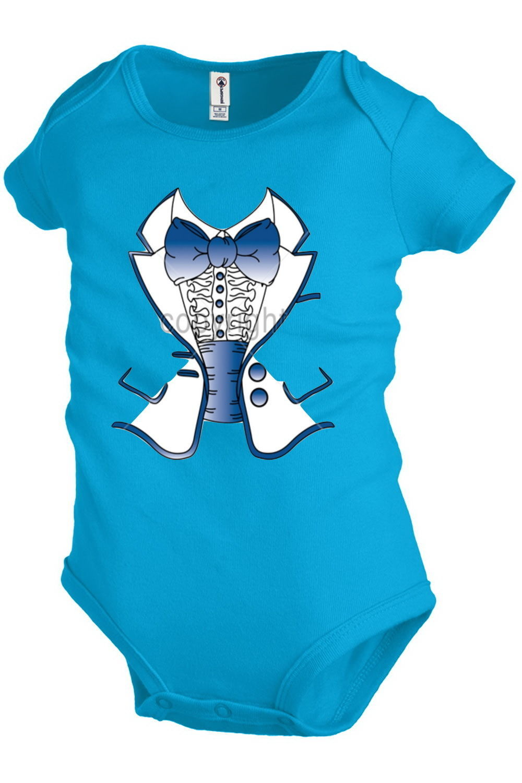 Tuxedo Costume Infant Baby one-piece Bodysuit Snapsuit Girl Boy Funny KP152