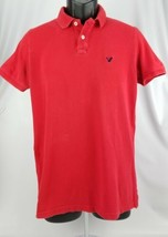American Eagle Polo Shirt Short Sleeve Red Size Extra Small Classic Fit - $14.31