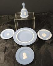 Pre 1969 Wedgwood Blue Jasperware Five Accessories - $18.99