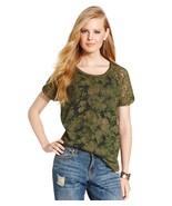 Jessica Simpson Camo Green Lace Sleeved Printed Sweatshirt size Medium - $27.95