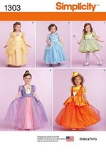 SIMPLICITY 1303 TOODLER / GIRLS' PRINCESS, FAIRY, WITCH COSTUMES (SIZE 1... - $13.48