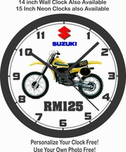 1980 SUZUKI RM125 MOTOCROSS WALL CLOCK-FREE USA SHIP! - $28.70+