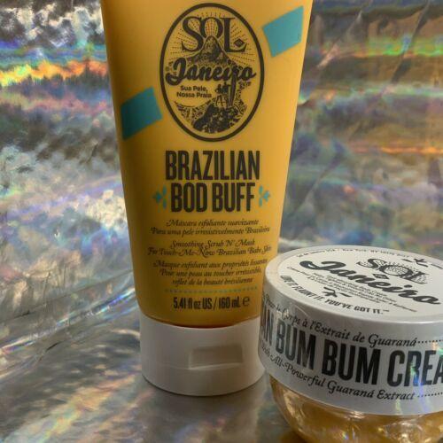 Sol De Janeiro Brazilian DISCONTINUED Body Buff Scrub 5.4oz & Bum Bum Cream 50mL