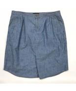 Banana Republic Chambray Shirttail Skirt Womans 12 Tall blue Unlined Sha... - $28.98