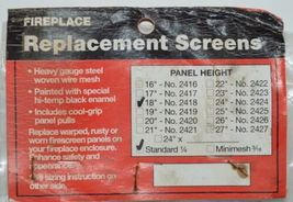 Fireplace 2418 Replacement Screens Heavy Gauge Steel Woven Wire Mesh Black 1 Set image 3