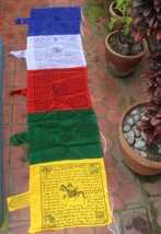 Silk Mixed Vertical Pole Prayer Flags - $34.65