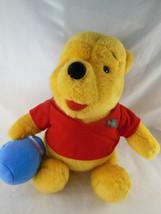 Mattel 1994 Winnie the Pooh Teddy Bear With Honey Pot Stuffed Animal Plu... - $10.88