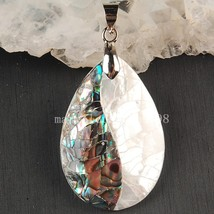 Fashion jewelry new zealand ablone mother of pearl shell water drop pendant bead mc3593 thumb200