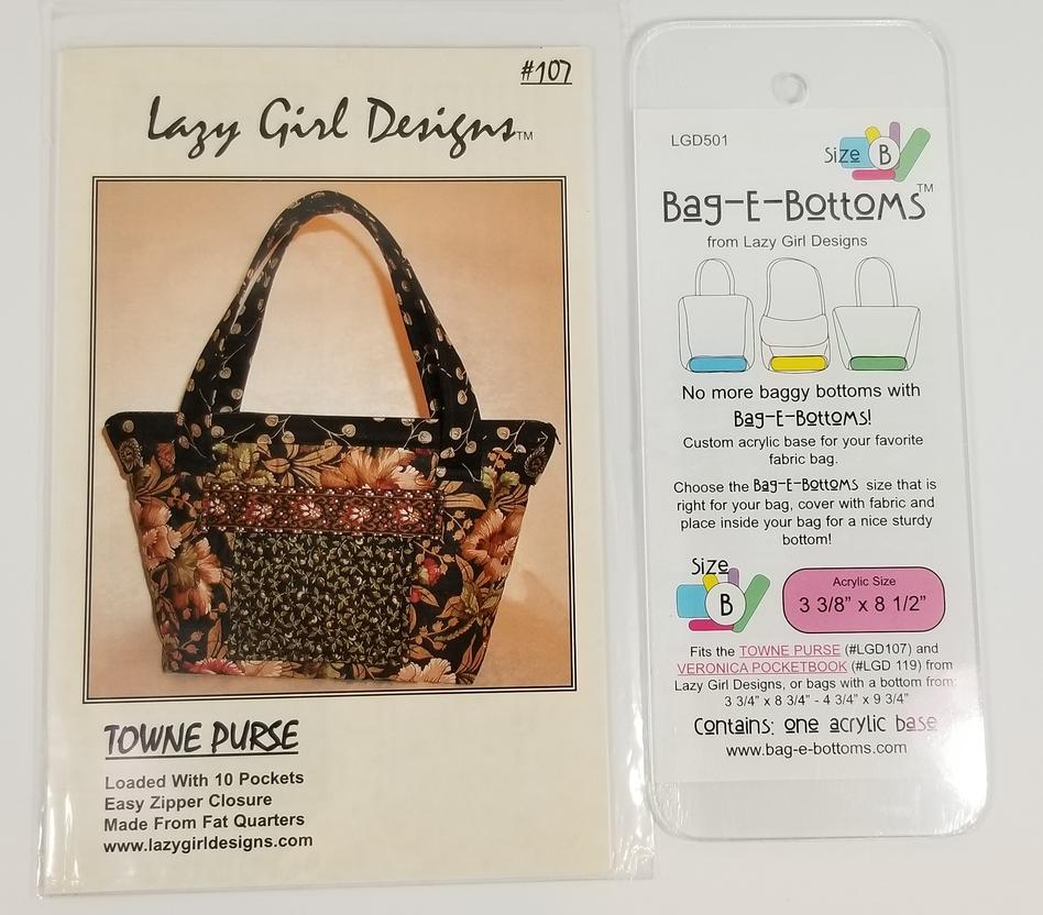Towne Purse Handbag Pattern Lazy Girl Designs includes Acrylic Base