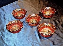 Carnival Fruit Bowls AA18-1335 Vintage (set of 5)