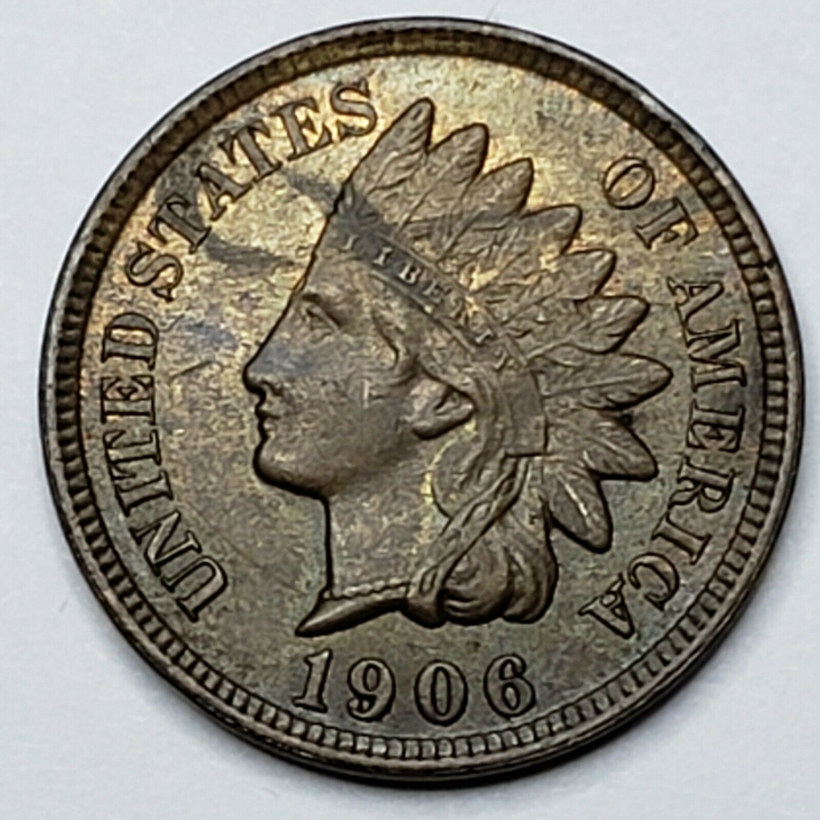 1906 Indian Head Cent Penny Coin Lot 519-95