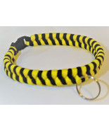 Paracord 550 Dog Collar Yellow and Black Fish Tail Design Black Quick Re... - $15.00