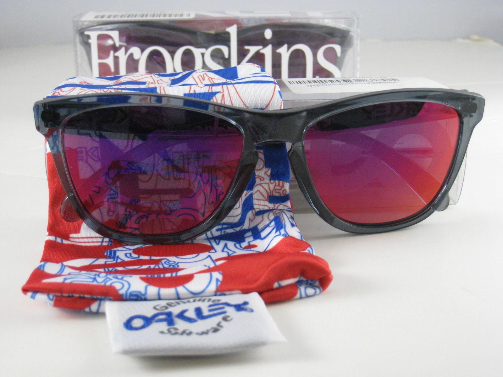 Oakley Frogskins Edición Limitada Cristal Negro W/ IRIDIO Rubí 24-244