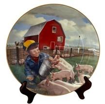 Little Farmhands Piglet Roundup Donald Zolan Danbury Mint Collectors Plate - $14.95