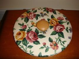 Longaberger Medium Fruit Basket Fabric Lid Garden Spledor - $12.99