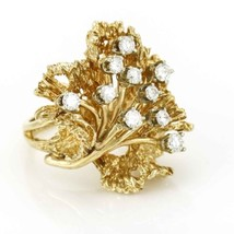 Vintage 14k Yellow Gold Diamond Cocktail Ring - $1,826.55