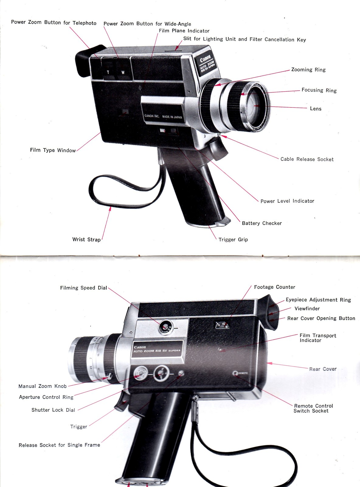 Canon Super 8 Movie Camera  Auto Zoom 518 SV