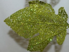 Unbranded Grape Leave Tendril Curly Q's Glittery Green image 2