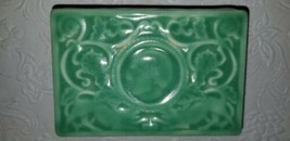 1929 Rockwood Green Glazed Pottery Trinket Box Rare - $148.50
