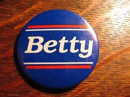 Betty Ford Pin - Vintage 1970's President Gerald POTUS USA Election Reha... - $19.79