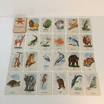 1959 - Edu-Cards - Animal Bird Fish Card Game Playing Cards - $10.49