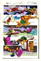 Original 1983 Iron Man 177 Marvel Comics color guide comic art page 26: 1980's - $99.50