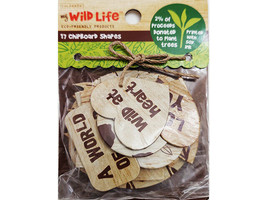 Colorbok My Wild Life Chipboard Shapes, 17 Pieces