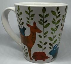 Signature Housewares Mug In The Woods Deer Rabbit Hedgehog Wolf Woodland... - $19.79