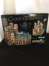 Game Of Thrones The Red Keep 845 Piece 3D Wrebbit Puzzle - New/Sealed - $52.82