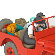The Red Jeep Willys 1/24 Voiture Tintin car Tintin & Land of Black Gold New image 2