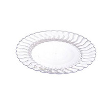 Clear Flairware 10 Inch Plastic Dinner Plates/Case of 144 - £109.96 GBP