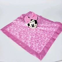 "Disney Minnie Mouse 12x12"" Lovey Security Blanket Pink Floral Rattle  - $8.91"