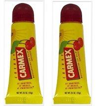 2 Pack - Carmex - Cherry Lip Balm - Lip Moisturizing Tube, Cherry Balm - 0.35 Oz - $4.99