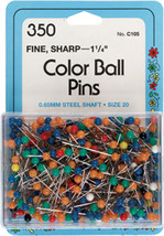 Collins Color Ball Pins 350/pkg-size 20 #dhj - £11.93 GBP