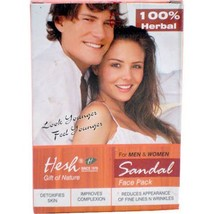 Hesh Unisex Sandal Face Pack 100% Herbal Cleanser Soft Smooth Glowing Skin - $7.95